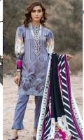 Digital Printed Embroidered Slub Linen Shirt Digital Printed Dupatta / Shawl Dyed Trouser