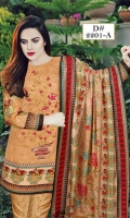 Three Piece Embroidered Dhanak Suit