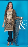 3 pcs embroidered Lawn with soft Net dupatta