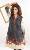 Embroidered Lawn Stitched Kurti