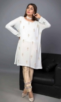 Embroidered Chiffon Stitched Kurti