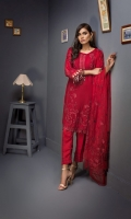 Embroidered Shirt 3 Mtr Inner 2 Yard Embroidered Net Dupatta 2.5 Mtr Raw Silk Trouser 2.5 Mtr