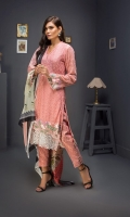 Embroidered Shirt 3 Mtr Inner 2 Yard Digital Silk Dupatta 2.5 Mtr Jamawar Trouser 2.5 Mtr