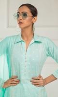 Shirt Front 1.25 Mtr Emb Shirt Back + Sleeves 1.75 Mtr Net Dupatta 2.5 Mtr Emb Trouser 2.5 Mtr