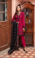 3 Mtr Embroidered Shirt 2.5 Mtr Chiffon Embroidered Dupatta 2.5 Mtr Trouser