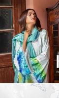 3 Mtr Shiffli Emb Shirt 2.5 Mtr Digital Silk Dupatta 2.5 Mtr Trouser 2 Mtr Digital Sattan Patti