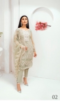 Embroidered Lawn CHIKANKARI Shirt With Digital Printed Chiffon Plus Embroidered Chiffon Dupattas & much more, & Trousers.