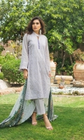 Shirt Frnt 1.25 Mtr Embroidered Back + Sleeves 1.75 Mtr Digital Shiffli Dupatta 2.5 Mtr Trouser 2.5 Mtr