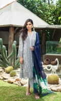 Shirt Shiffli 3 Mtr Embroidered Khaddi Net Dupatta 2.5 Mtr Trouser 2.5 Mtr