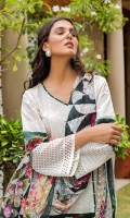 Shifili Embroidered Shirt 3 Mtr Digital Shifli Dupatta 2.5 Mtr Trouser 2.5 Mtr Sattin Patti 2 Yards