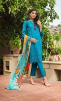 Shifli Embroidered Shirt 3 Mtr Digital Shifli Dupatta 2.5 Mtr Trouser 2.5 Mtr