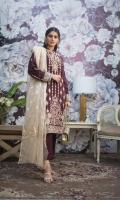 3 Mtr Embroidered Shirt 2.5 Mtr Zarri Dupatta 2.5 Mtr Cotton Trousser