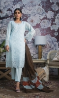 3 Mtr Shiffli Embroidered Shirt 2.5 Mtr Khaddi Dupatta 2.5 Mtr Cotton Trouser