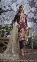 3 Mtr Embroidered Shirt 2.5 Mtr Zarri Dupatta 2.5 Mtr Cotton Trousser