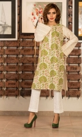 Shirt: Jacquard Kurti + Embroidered Front Panel