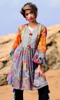 Fabric: Lawn  Color: Multi  Round Neckline  Printed front