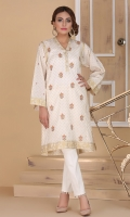 printed and embroidered lawn kurta with buttons.