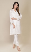 Dyed & Embroidered Wider Width Lawn Shirt Front(1.25m) Dyed & Embroidered Wider Width Lawn Shirt Back(1.50m)