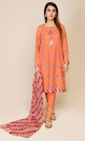 Printed Wider Width Lawn Shirt(2.50m) Printed & Embroidered Cotton Lawn Dupatta(2.50m) Dyed Cambric Shalwar(2.50m)