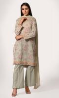 Digital Printed Wider Width Cotton Lawn Shirt(2.50m) Digital Printed & Embroidered Bember Chiffon Dupatta(2.50m) Dyed Cambric Shalwar(2.50m)