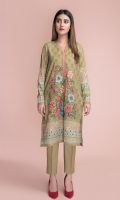 Digital Printed & Embellished Wider Width Lawn Shirt(2.50m)