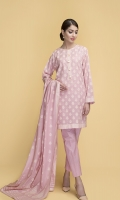 Dyed & Printed wider width Lawn Shirt(2.50m) Dyed & Printed Cotton Lawn Dupatta(2.50m) Dyed Cambric Shalwar(2.50m)