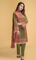 Digital Printed wider width Lawn Shirt(2.50m) Printed Cotton Lawn Dupatta(2.50m) Dyed Cambric Shalwar(2.50m)