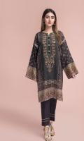 Digital Printed & Embellished Cotton Silk Shirt(2.50m)