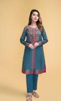 Digital Printed & Embellished Wider Width Lawn Shirt(2.50m)