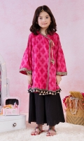 Printed Angrakha Featuring Smocking On Sleeves
