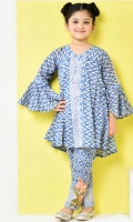 printed angrakha shirt fearturing with flared sleeves