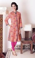 2.75m printed and embellished khaddar shirt