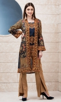 Printed Front Open Gown Style Shirt  Printed Back  Full Sleeves