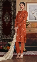 Hand embellished embroidered shirt paired with plain trouser and embroidered dupatta