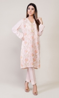 3 pc - Suit Embroidered Shirt and Dupatta with Plain Trouser