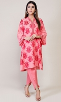 2 pc - Suit Embroidered Shirt with Plain Shalwar