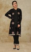 Dyed & Embroidered Cotton Silk Shirt Front(1.25m) Dyed & Embroidered Cotton Silk Back & Sleeves(1.75m) Dyed Cotton Silk Shalwar(2.50m)