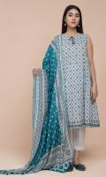 Printed Wider Width Lawn Shirt(2.50m) Printed Cotton Lawn Dupatta(2.50m)