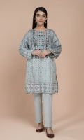 Printed & Embellished Wider Width Lawn Shirt(2.50m)