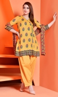 Printed Wider Width Cotton Lawn Shirt(2.5M) Printed Cotton Lawn Dupatta(2.5M) Dyed Cambric Shalwar(2.5M)