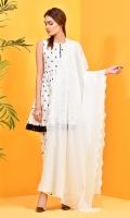 Dyd & Embroidered Wider Width Cotton Lawn Dupatta