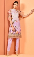 Digital Printed value lawn shirt(3.00M) Dyed cambric shalwar(2.50M) Embroidered organza patch(2.00m)