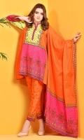 Printed Wider Width cotton lawn shirt(2.5M) Printed malmal dupatta(2.5M) Printed cambric shalwar(2.5M)
