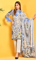 Digital Printed Wider Width cotton lawn shirt(2.65M) Digital Printed cotton lawn dupatta(2.5M) Dyed cambric shalwar(2.5M)