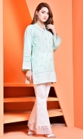 Printed and embellished Wider Width cotton lawn shirt front(1.25 M) Printed Wider Width cotton lawn shirt back(1.50 M)