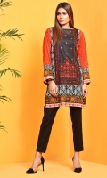 Printed and embellished Wider Width cotton lawn shirt(2.50 M)