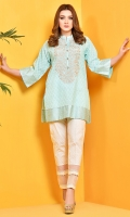 Printed and Embroidered value lawn shirt front(1.25 M) Printed value lawn shirt back(1.75 M)