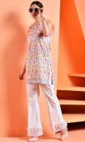 Printed wider width cotton lawn shirt(2.50 M)