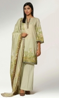 Digital Printed Wider Width Cotton Lawn Shirt(2.50m) Digital Printed Cotton Lawn Dupatta(2.50m) Dyed Cambric Shalwar(2.50m)