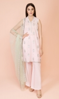 Dyed & Embroidered Wider Width Lawn Shirt(2.75m) Dyed & Embroidered Polynet Dupatta(2.50m) Dyed Cambric Shalwar(2.50m)